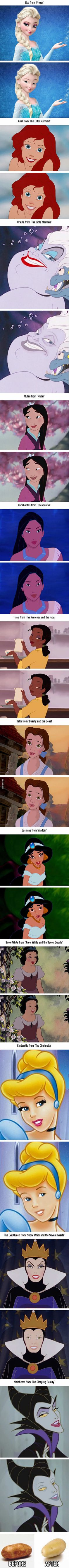 This Is What Disney Characters Look Like Without Makeup - 9GAG