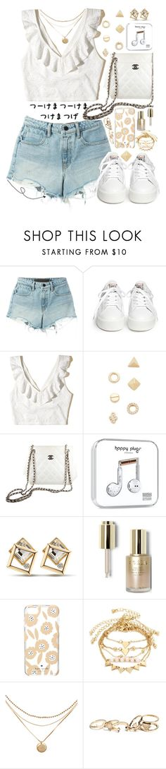 """Untitled #434"" by cherryprincessannie ❤ liked on Polyvore featuring T By Alexander Wang, Ash, Hollister Co., Shashi, Chanel, Stila, Kate Spade and GUESS"