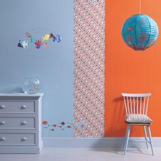 Papier peint Sardines - Little Big Room by Djeco Bedroom Themes, Girls Bedroom, Bedroom Decor, Childs Bedroom, Bedroom Ideas, Toddler Rooms, Kids Wallpaper, Kids Room Design, Kids Decor