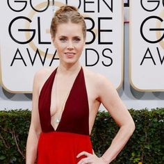 Amy Adams showcased genuine glamour on the Golden Globe 2014 red carpet in this two-toned Valentino gown and paired it's plunging neckline with spot-on accessories. Hollywood Actresses, In Hollywood, Valentino Gowns, Amy Adams, Golden Globes, Celebs, Celebrities, Plunging Neckline, Red Carpet