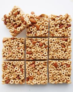 Make Dessert for Breakfast Whats the perfect back-to-school dessert for every lunch box? Answer: these Honey Nut Cereal Bars! Crunchy sweet and so simple to make these packable snacks require almost no cooking just warm up a few ingredients on the s Breakfast Bars Healthy, Breakfast On The Go, Breakfast Dessert, Healthy Snacks, Breakfast Recipes, Snack Recipes, Breakfast Cereal, Breakfast Ideas, Perfect Breakfast