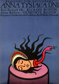 Anne of the Thousand Days Anna tysiaca dni Flisak Jerzy Polish Poster