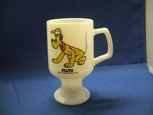 Pluto Disney Milk Glass Pedestal Mug