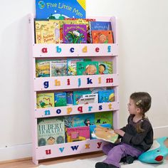 The Tidy Books Childrens Bookcase in Pink - Kids do judge a book by its cover!