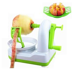 Accmor Fruit Peeler Corer with Excellent Precision Professional Apple Peeler with Super Sharp Antirust Stainless Steel Blade and Stable Suction Base vegetable spiralizer for Potatoes etc Green >>> See this great product.