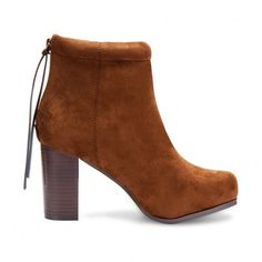 Yoins Suede High Ankle Boots in Brown ($58) ❤ liked on Polyvore featuring shoes, boots, ankle booties, yoins, ankle boots, heels, brown, chunky booties, suede booties and suede boots