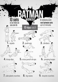 Batman workout from http://neilarey.com/workouts.html?start=16