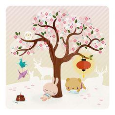 More kawaii cuteness. By Spanish illustrator Silvia. Find her works here: www.hellobuku.blogspot.com