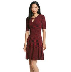 Muse Marled Fit And Flare Dress at www.herbergers.com