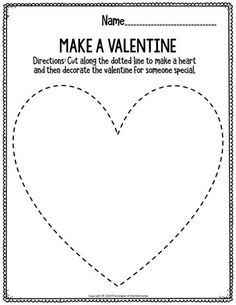 Printable Fine Motor Valentine's Day Preschool Worksheets Make A Valentine Preschool Class, Preschool Christmas, Preschool Worksheets, Preschool Activities, Physical Education Games, Health Education, Physical Activities, Cutting Practice, Dementia Activities