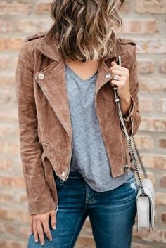 A Moto Jacket + 5 Universal Motherhood Truths | my kind of sweet | fall style | mom life | casual style | real mom style | outfit idea | denim