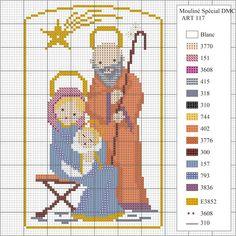 O Natal aproxima-se! Para decorar a sua casa com um bordado original, preparámos para si este esquema dum presépio em ponto de cruz.   ...