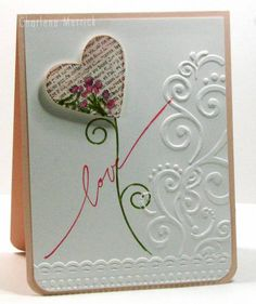 Simply Sweet Single Heart Love Card...