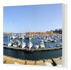 Canvas Print-Marina of Portimao, Algarve, Box Canvas Print made in the USA Algarve, Portugal, Framed Prints, Canvas Prints, Photo Wall Art, Photo Gifts, Boat, Australia, Building