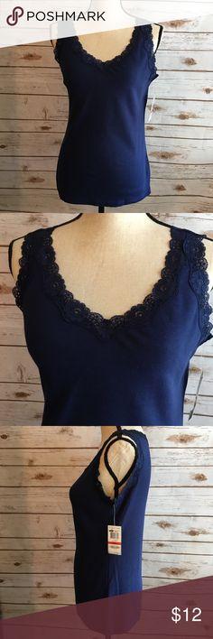 ✨NWT Karen Scott Lace Tank Top NWT SZ XS  100% Cotton Lace 92% nylon 8% spandex Karen Scott Tops Tank Tops