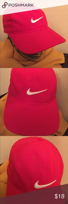 🆕 RESTOCKED! ONLY 1! Nike Golf Adult Unisex Cap Authentic Nike Golf Adult Unisex Cap. OS. Red with Embroidered White Swoosh on the Front & Back. Adjustable Velcro Back. Dri-Fit. Vented. Red Button Top. Red Bill. Underbill is Black with Red Trim. Partially Lined in Black too. Body & Lining are 100% Polyester. Brand New. Excellent Condition. No Trades. See Other Cool Hats in this Closet. 👌🏽😎👌🏽 Nike Accessories Hats