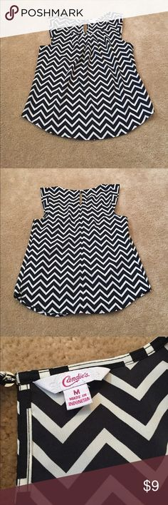 Candie's Chevron Shirt Candie's Black and White Chevron Shirt! Size Medium! Super cute for work or for a night out! Candie's Tops
