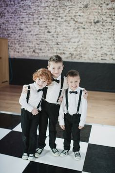 Little page boys/ring bearers in mini tuxedos.  http://www.michellewaspe.com/