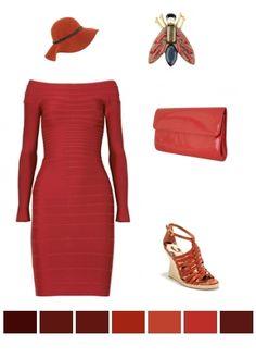 red ensemble