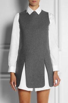 J.W.Anderson|Neoprene-effect wool-blend mini dress|NET-A-PORTER.COM
