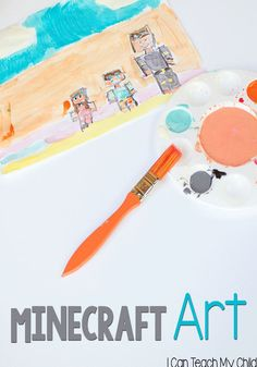 Minecraft Art:  Making impressionist paintings to go along with your child's favorite video games!