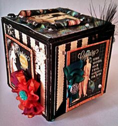 Zingala's Workshop: A Flapper's ATB with @Graphic 45® Couture Papers