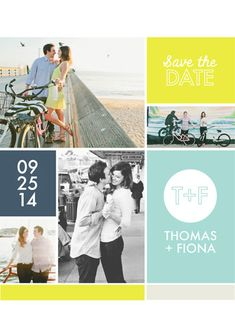 save the date cards - Square Space by Vanessa Wyler