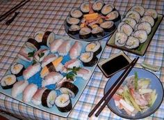 I though it was very difficult and I've discovered it's very easy...SUSHI!!!