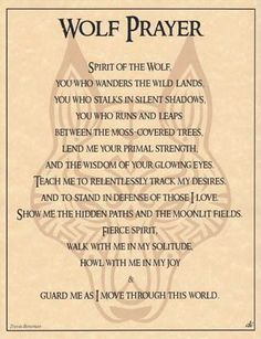 Wolf Prayer Parchment for Book of Shadows Page! pagan wicca witch in Collectibles, Religion & Spirituality, Wicca & Paganism Phrase Cute, Animal Spirit Guides, Wolf Spirit Animal, Spirit Animal Tattoo, Book Of Shadows, Numerology, Spelling, Decir No, Nativity