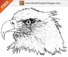 Free Hand Drawn Eagle Vector Graphics