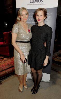JK Rowling and Emma Watson
