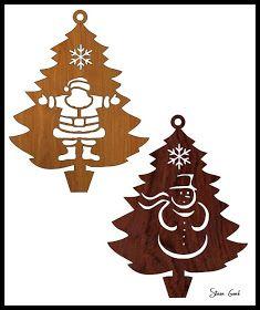 Traforo Workshop: Quattro ornamenti dell'albero di Natale Scroll Saw Patterns.