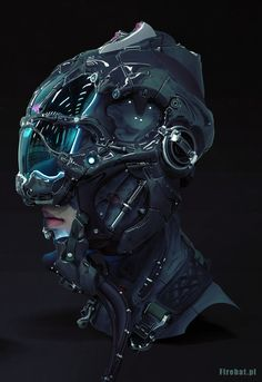 "Sci-Fi Pilot - by Andrzej Marszalek ""Personal work. High poly model done with ZBrush and Max. Rendered in Keyshot. About of work captured and squeezed into a little bit more than 1 hour. Futuristic Helmet, Futuristic Art, Cyberpunk Girl, Arte Cyberpunk, Cyberpunk Clothes, Robot Design, Helmet Design, Arte Sci Fi, Cyberpunk Aesthetic"