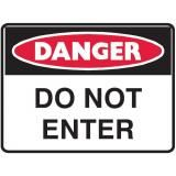 A sign that shows that it is dangerous to enter a certain area.