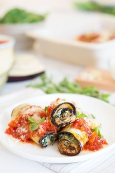 This is my favorite way to enjoy eggplant all summer long, hence calling it the Best Skinny Eggplant Rollatini with Spinach. It's decadent, vegetarian comfort food at it's best yet made light with no breading and no frying. So good and better than most eggplant dishes I order at restaurants which are typically fried and loaded with calories.
