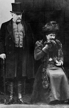 Princess Louise, Duchess of Argyll with husband the Duke of Argyll..he was gay..no children