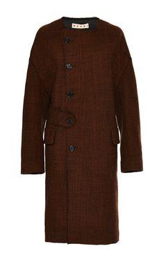 Bonded Tweed Coat by  for Preorder on Moda Operandi