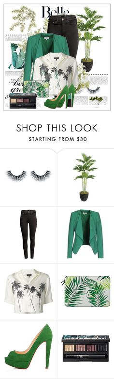 """""""Palm Trees and Meetings"""" by weerala ❤ liked on Polyvore featuring Laura Ashley, Tommy Bahama, H&M, Patrizia Pepe, rag & bone, Casetify, Christian Louboutin, NARS Cosmetics and New Growth Designs"""