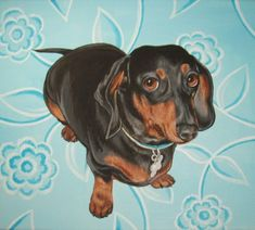 Custom Pet Portrait Acrylic Painting 14 by 18