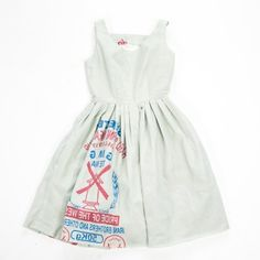 Dress from a flour sack. <3