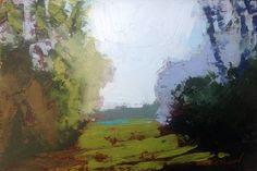 "Fields Beyond oil 4 x 6"" © Mary Bentz Gilkerson"