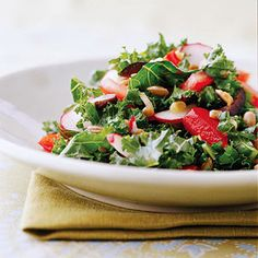 Kale salad recipe from midwestliving.com