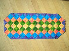 My friend and my FIRST project... NO it was not strip pieced!