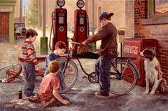 Jim Daly, Galeria de Arte, a patrulha de bicicleta