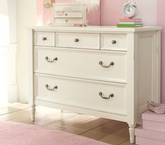 Like the early American antiques that inspired it, this beautifully built dresser abounds in romantic details. Indoor Outdoor Furniture, Dresser As Nightstand, Pottery Barn Kids, Girls Bedroom, Antiques, Inspiration, Home Decor, Antiquities, Biblical Inspiration