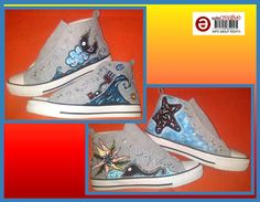 Zapatillas pintadas a mano. Hand-painted shoes. http://www.facebook.com/talentopor2