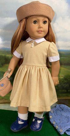 Sewing Doll Clothes, Sewing Dolls, Dolls Dolls, Girl Doll Clothes, Girl Dolls, American Girl Clothes, American Girls, 50s Outfits, Girl Outfits