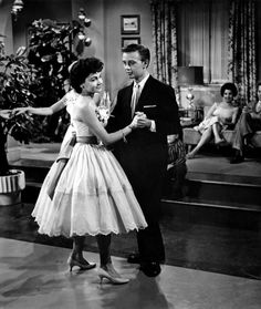 Annette dances with Tommy Kirk in The Shaggy Dog, 1959