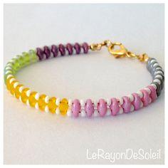 Man woman unisex bracelet SuperDuo matte and by LeRayonDeSoleil, €14.00