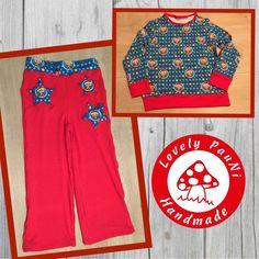 Schnitte sind die Freizeithose von Julia, das Shirt ist der Schnitt Longsleeve von Britta (Erbsenprinzessin).